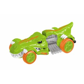 Masinuta pull back Hot Wheels,T-Rextroyer verde