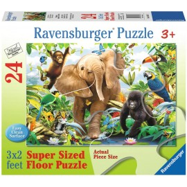 Puzzle Animale in Jungla, 24 piese